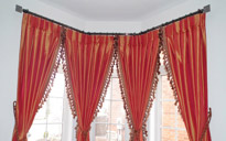 bay window drapery hardware