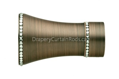 Dark copper decorative finials