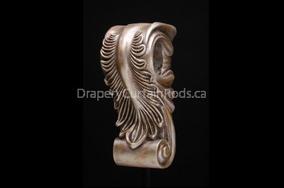 Rose gold decorative wood sconce