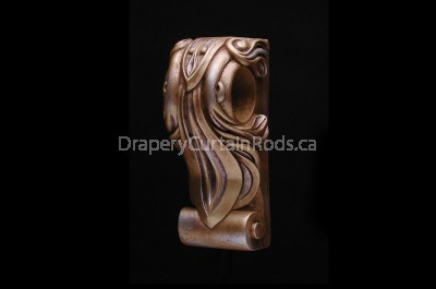 Gold & silver decorative wood sconce