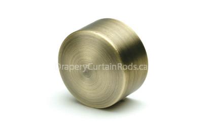 Antique brass decorative curtain rod end caps