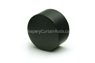 Black decorative curtain rod end caps