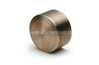 Dark copper curtain rod end caps