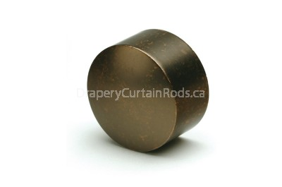 Walnut decorative curtain rod end caps