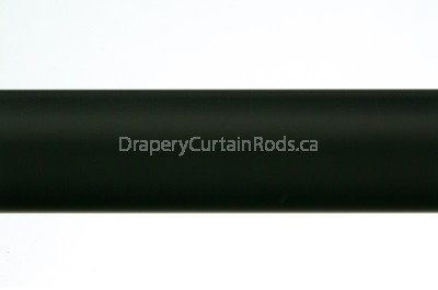 Black plain curtain poles