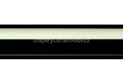 Black nickle plain curtain poles