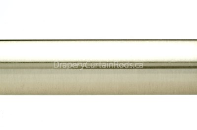 Nickle brushed plain curtain poles