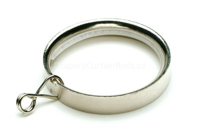 Nickle brushed flat curtain rod rings