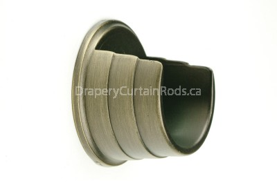 Antique brass wall mount curtain rod brackets