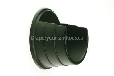 Black colour rod wall mount brackets