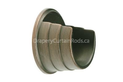 Dark copper wall mount curtain rod brackets