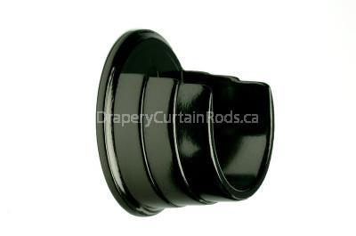Black nickle wall mount curtain rod brackets