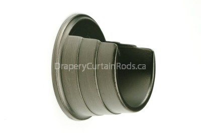 Pewter wall mount curtain rod brackets