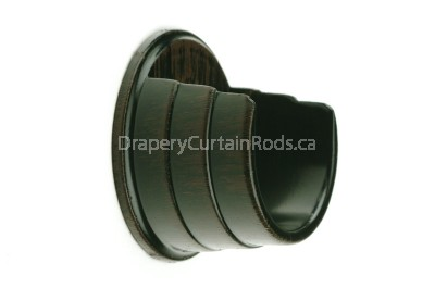 Rustic brown curtain rod wall mount brackets