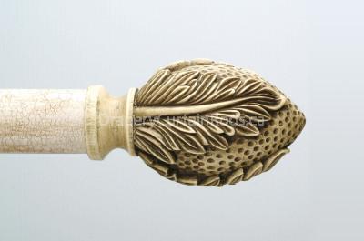 Antique ivory wood finials