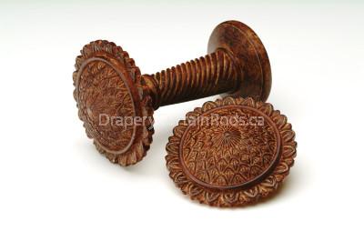 Antique rust wood holdbacks