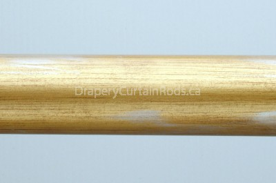 Gold & silver wooden curtain rods