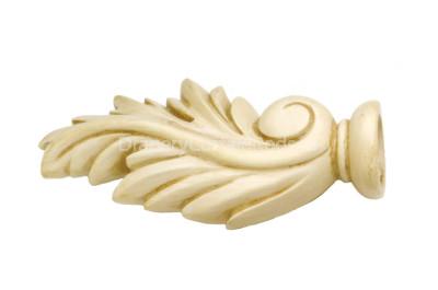 Antique cream decorative wood finials