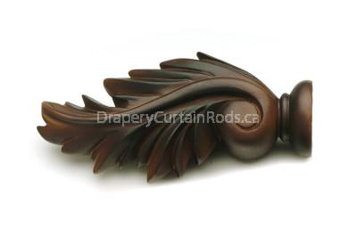 Antique walnut decorative wood finials