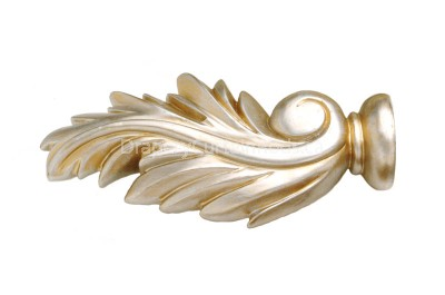 Silver & gold decorative wood finials