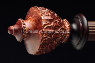 Antique rust decorative wood finials