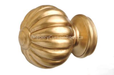 Antique gold decorative wood finials