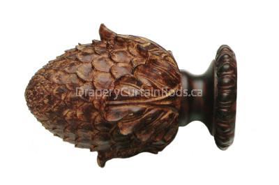 Antique rust decorative wood finials