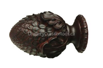 Mahogany decorative wood finials