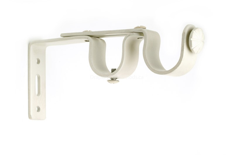White Double Iron Curtain Rod Brackets Adbk Wi