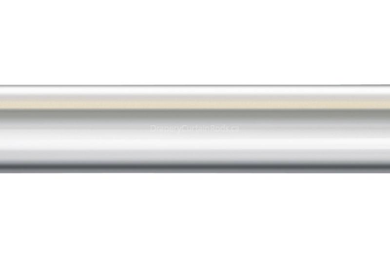 Mirror Chrome Colour Iron Curtain Poles - 6 and 8 foot lengths