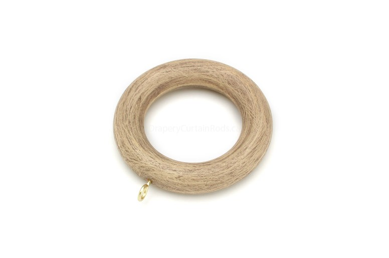 Antique Ivory Decorative Wood Curtain Rings Rg 081 Ai