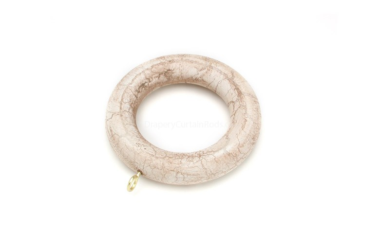Ivory Crackle Decorative Wood Curtain Rings Rg 084 Ic