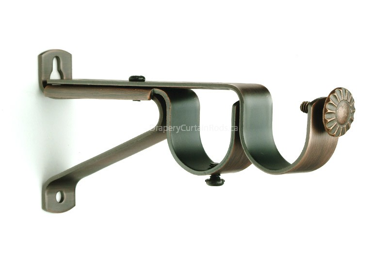dark copper double curtain rod brackets udbk dc