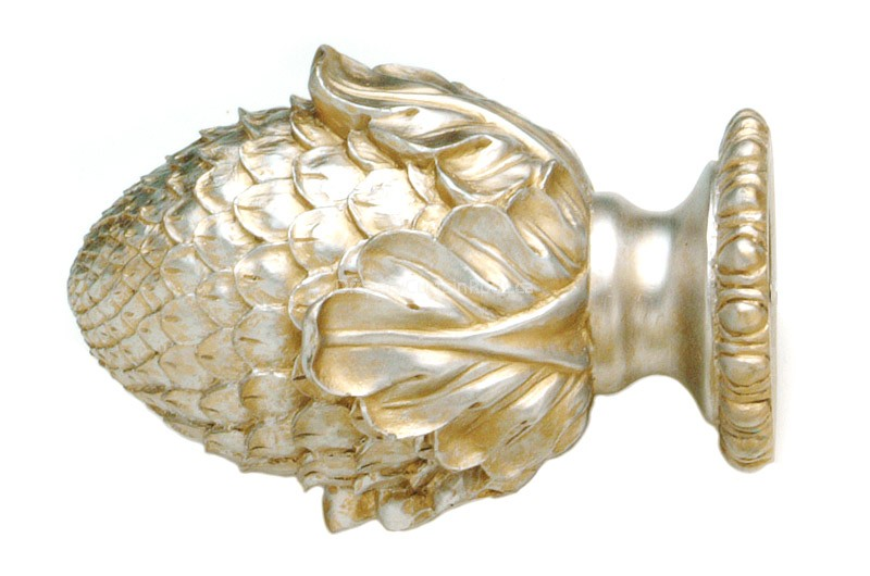 Silver Amp Gold Decorative Wood Finials Bfn8 Sg