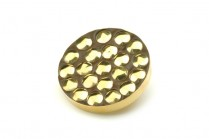 Gold bracket buttons