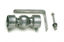 Silver curtain pole elbows