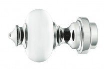 acrylic finials with a mirror chrome finish