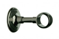 Black nickle curtain rod ceiling brackets