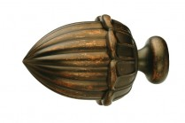 Walnut decorative finials