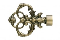 Antique brass decorative finials