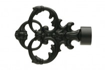 Black decorative finials