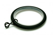 Black curtain pole rings