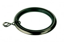 Black nickle curtain rod rings