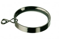Black nickle flat curtain rod rings