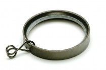 Pewter flat curtain rod rings