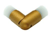 Antique gold curtain rod elbows