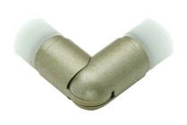 Silver antique curtain rod elbows