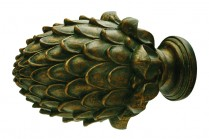 Gren patina decorative finials