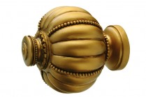 Antique gold decorative finials