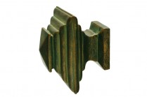 Green patina decorative finials